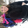 My daughter and I out snowshoeing.